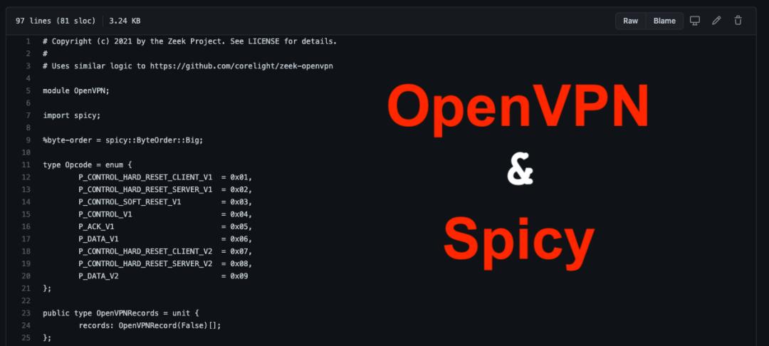 A Zeek OpenVPN Protocol Analyzer in Spicy