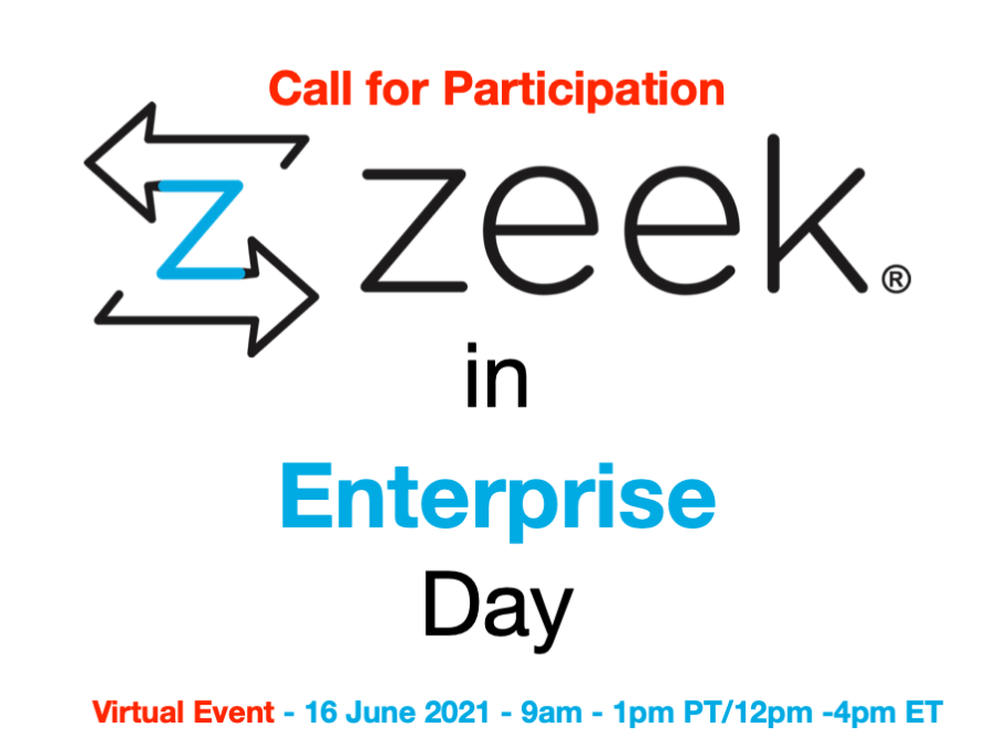 Zeek in Enterprise Day