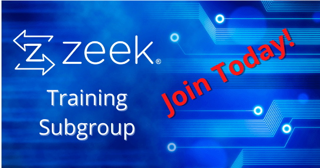 Announcing the Zeek Training Subgroup
