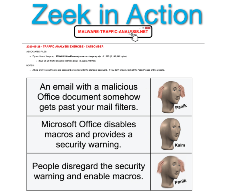 Zeek In Action, Video 2, Tracing a Trickbot Infection