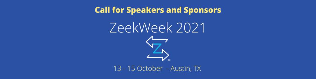 ZeekWeek 2021 – Call For Participation – Speakers and Sponsors