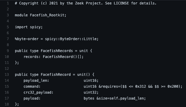 Detecting the Facefish Linux Rootkit with Zeek