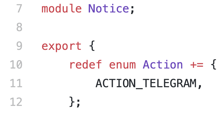 Telegram Zeek, you're my main notice