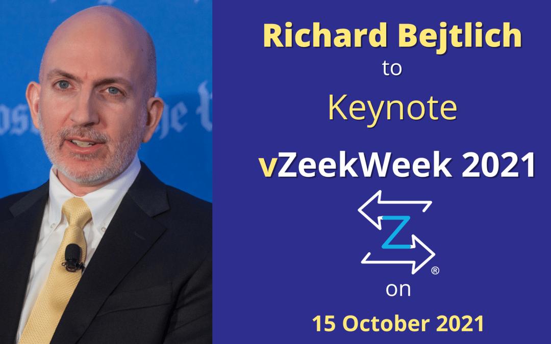 ZeekWeek Day 3 Keynote Speaker Announced – Richard Bejtlich of Corelight, Inc.